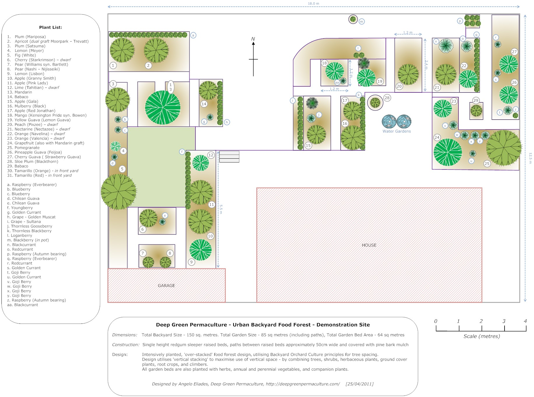 Garden Design North Facing 02. design & construction | deep green permaculture