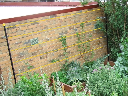 decorative plastic bamboo garden fence edging buy.htm how to build an espalier support trellis deep green permaculture  espalier support trellis