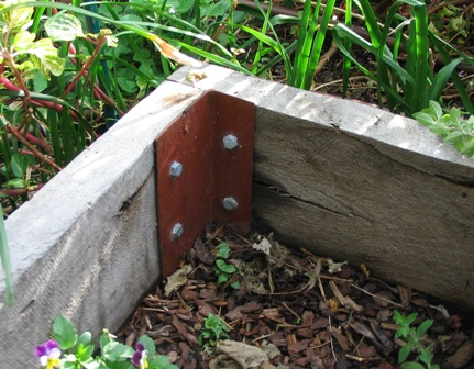 Raised garden beds deep green permaculture - Raised garden bed corner brackets ...