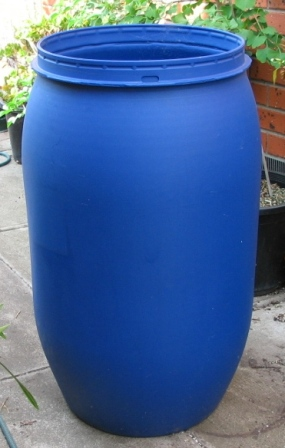 Recycled Plastic Drum Rainwater Tank Deep Green Permaculture
