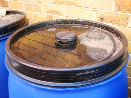 Recycled Plastic Drum Rainwater Tank | Deep Green Permaculture