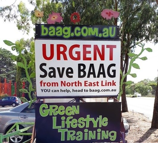 Save BAAG From The North East Link!